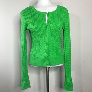 Lilly Pulitzer Medium Cardigan Sweater Green